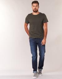 Υφασμάτινα Άνδρας Τζιν σε ίσια γραμμή Pepe jeans CASH Z45 / Μπλέ / Fonce