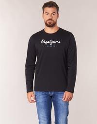 Υφασμάτινα Άνδρας Μπλουζάκια με μακριά μανίκια Pepe jeans EGGO LONG Black