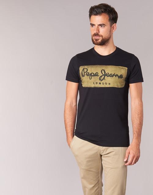 Υφασμάτινα Άνδρας T-shirt με κοντά μανίκια Pepe jeans CHARING Black