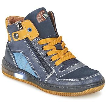 Παπούτσια Αγόρι Ψηλά Sneakers Primigi ADAM-E μπλέ / Yellow
