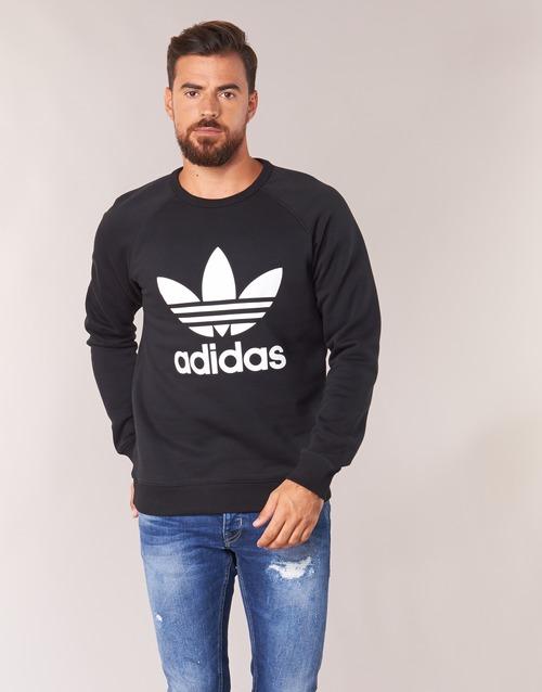 Υφασμάτινα Άνδρας Φούτερ adidas Originals TREFOIL CREW Black