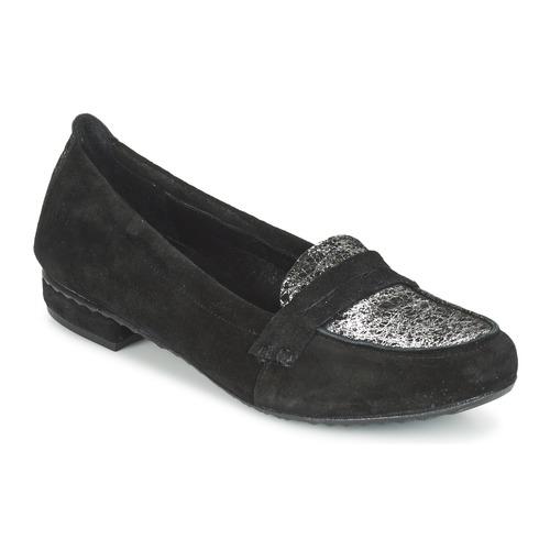 Παπούτσια Γυναίκα Μοκασσίνια Regard REMAVO Black / Velours