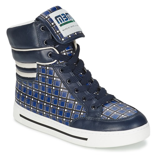 Παπούτσια Γυναίκα Ψηλά Sneakers Marc by Marc Jacobs CUTE KIDS MINI TOTO PLAID Μπλέ / Multicolour