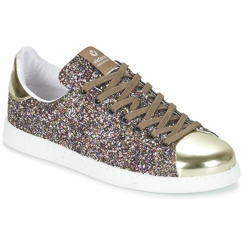 Παπούτσια Γυναίκα Χαμηλά Sneakers Victoria DEPORTIVO BASKET GLITTER Multicolore