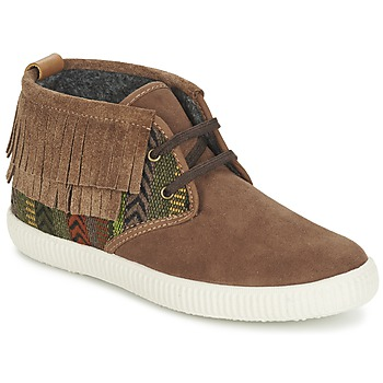 Παπούτσια Γυναίκα Ψηλά Sneakers Victoria SAFARI FLECOS ANTELINA ETNIC Brown