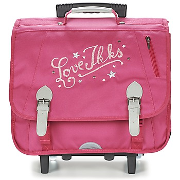 Τσάντες Κορίτσι Σχολικές τσάντες με ροδάκια Ikks LOVE IKKS TROLLEY CARTABLE 41CM ροζ