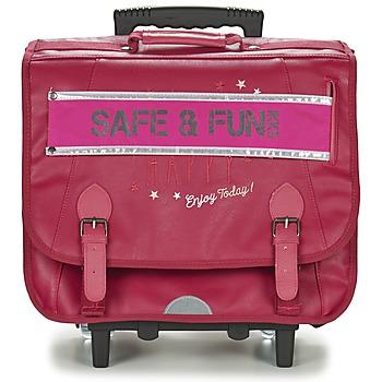 Τσάντες Κορίτσι Σχολικές τσάντες με ροδάκια Ikks HAPPY TROLLEY CARTABLE 41CM ροζ
