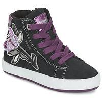 Παπούτσια Κορίτσι Ψηλά Sneakers Geox WITTY Black