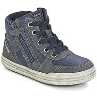 Παπούτσια Αγόρι Ψηλά Sneakers Geox ELVIS μπλέ / Grey