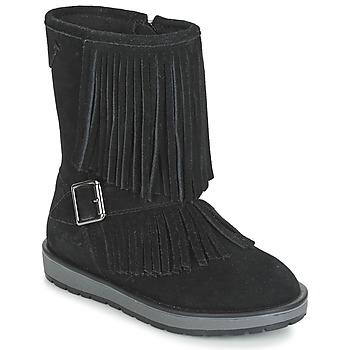 Παπούτσια Κορίτσι Μπότες για την πόλη Geox NOHA Black