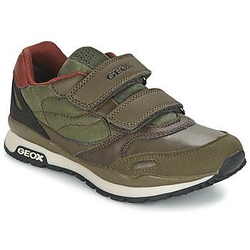 Παπούτσια Αγόρι Χαμηλά Sneakers Geox PAVEL Green / Orange