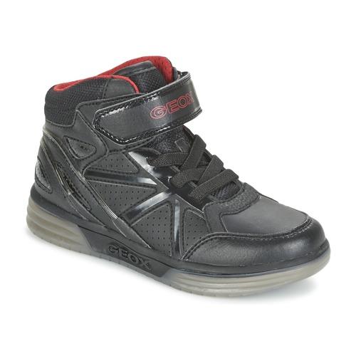 Παπούτσια Αγόρι Ψηλά Sneakers Geox ARGONAT BOY Black / Red