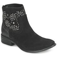 Παπούτσια Γυναίκα Μποτίνια Meline VELOURS STARTER Black