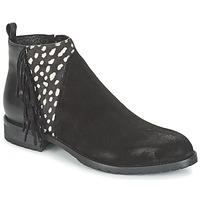Παπούτσια Γυναίκα Μπότες Meline VELOURS NERO PLUME NERO Black / Άσπρο