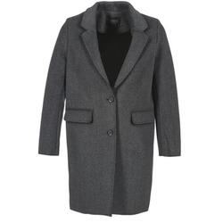 Υφασμάτινα Γυναίκα Παλτό Eleven Paris TABLEAUBIS Grey / Black
