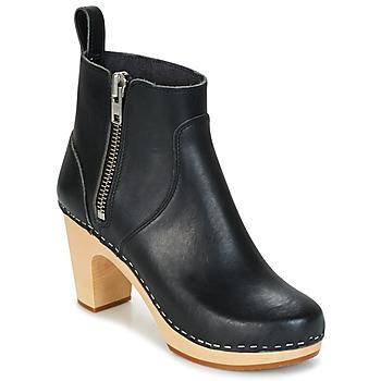Παπούτσια Γυναίκα Μποτίνια Swedish hasbeens ZIP IT SUPER HIGH Black