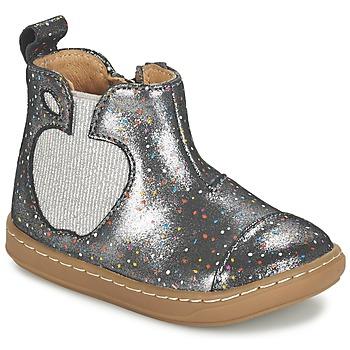 Παπούτσια Κορίτσι Μπότες Shoo Pom BOUBA APPLE Silver