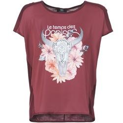 Υφασμάτινα Γυναίκα T-shirt με κοντά μανίκια Le Temps des Cerises CRANEFLO BORDEAUX