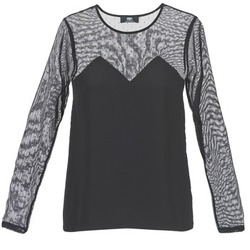 Υφασμάτινα Γυναίκα T-shirt με κοντά μανίκια Le Temps des Cerises ALANNAH Black
