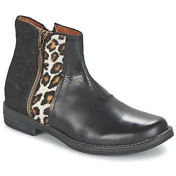 Παπούτσια Κορίτσι Μπότες Shwik TIJUANA WILD Black / Leopard