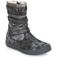 Παπούτσια Κορίτσι Μπότες για την πόλη GBB NOURIA Black / Μεταλικό