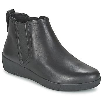 Παπούτσια Γυναίκα Μπότες FitFlop SUPERCHELSEA BOOT Black