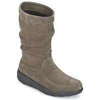 Παπούτσια Γυναίκα Μπότες FitFlop LOAF SLOUCHY KNEE BOOT SUEDE Taupe