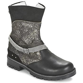 Παπούτσια Κορίτσι Μπότες Ikks ROBERTA Black / Grey