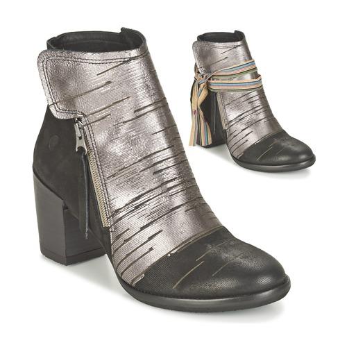 Παπούτσια Γυναίκα Μποτίνια Felmini CARMEN Black / Silver