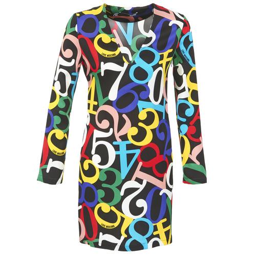 Υφασμάτινα Γυναίκα Κοντά Φορέματα Love Moschino PICHANI Multicolore
