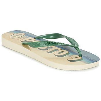 Παπούτσια Άνδρας Σαγιονάρες Havaianas POSTO CODE Green / μπλέ