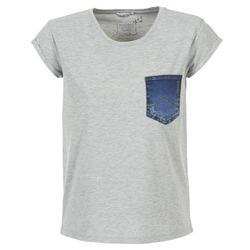 Υφασμάτινα Γυναίκα T-shirt με κοντά μανίκια Mustang SLV DENIM POCKET Grey