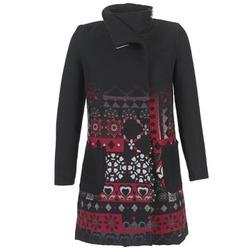 Υφασμάτινα Γυναίκα Παλτό Desigual JEFINITE Black / Red