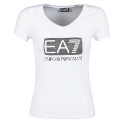 Υφασμάτινα Γυναίκα T-shirt με κοντά μανίκια Emporio Armani EA7 FOUNAROLA άσπρο