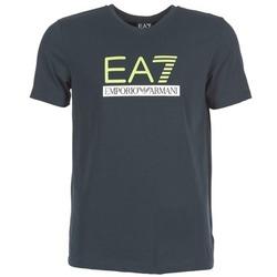Υφασμάτινα Άνδρας T-shirt με κοντά μανίκια Emporio Armani EA7 JANTLOA MARINE