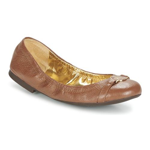 Παπούτσια Γυναίκα Μπαλαρίνες Lauren Ralph Lauren BETHENNY Cognac