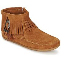 Παπούτσια Γυναίκα Μπότες Minnetonka CONCHO FEATHER SIDE ZIP BOOT Brown