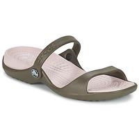 Παπούτσια Γυναίκα Σανδάλια / Πέδιλα Crocs Cleo Σοκολά / Cotton / Candy