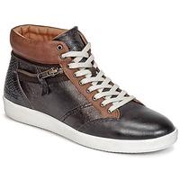 Παπούτσια Γυναίκα Ψηλά Sneakers Kickers HAPPYZIP Brown / Fonce / Μεταλικό