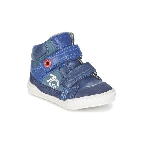 Παπούτσια Αγόρι Ψηλά Sneakers Kickers JINJINU Μπλέ