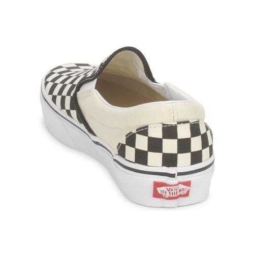 Φτηνός Divat Stílus Παπουτσια Ανδρασ Vans CLASSIC SLIP ON Black / Άσπρο sOlVa8hs Ij0RCpPn