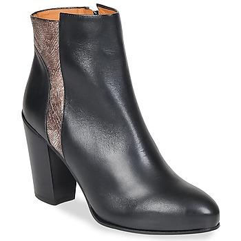 Παπούτσια Γυναίκα Μποτίνια Emma Go BOWIE Black / Μεταλλικό