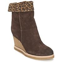 Παπούτσια Γυναίκα Μποτίνια Vic VANCOVER GUEPARDO Brown / Leopard