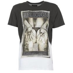 Υφασμάτινα Άνδρας T-shirt με κοντά μανίκια Religion GRABBING Άσπρο / Black