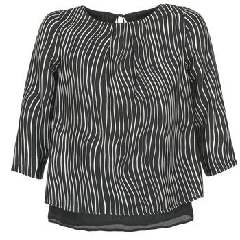 Υφασμάτινα Γυναίκα Μπλούζες Betty London FADILIA Black / Άσπρο