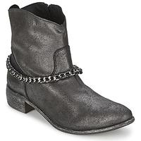 Παπούτσια Γυναίκα Μπότες Meline VUTIO Black / Μεταλικό