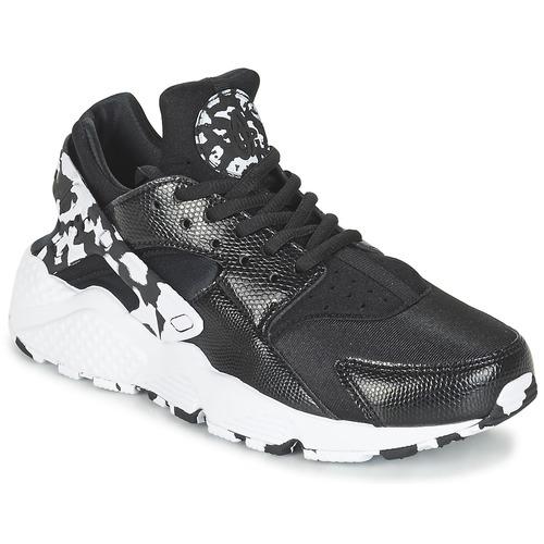 Παπούτσια Γυναίκα Χαμηλά Sneakers Nike AIR HUARACHE RUN SE W Black / Άσπρο