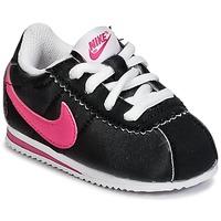 Παπούτσια Κορίτσι Χαμηλά Sneakers Nike CORTEZ NYLON TODDLER Black / ροζ