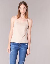 Υφασμάτινα Γυναίκα Αμάνικα / T-shirts χωρίς μανίκια BOTD FAGALOTTE Nude