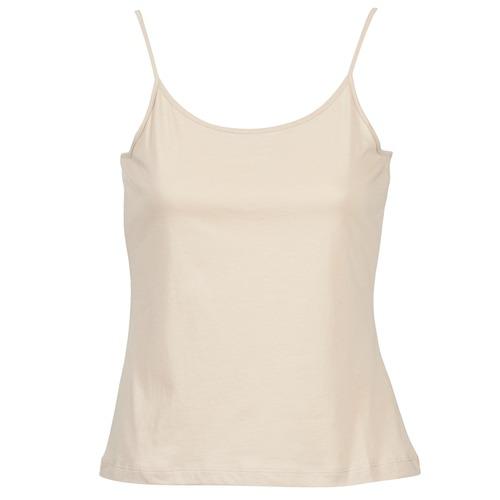 Υφασμάτινα Γυναίκα Αμάνικα / T-shirts χωρίς μανίκια BOTD FAGALOTTE Beige